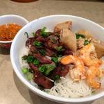 Vermicelli with Spring Roll, Grilled Pork, and Shrimp