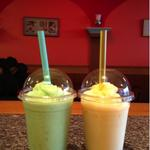 Bubble Smoothie: Green (Honeydew) & Yellow (Mango)